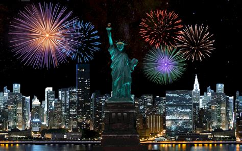 new year statue happy fourth of july to the usa