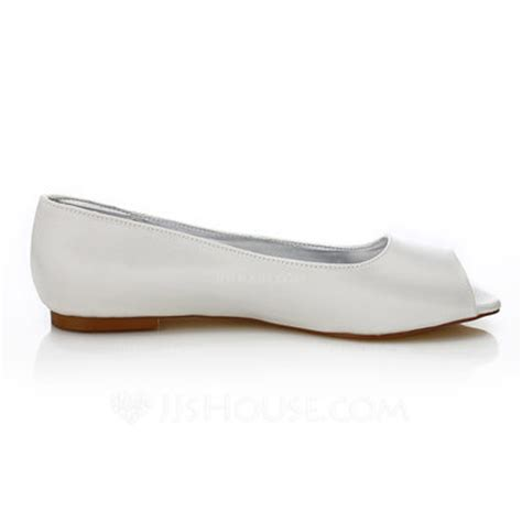 dyeable flat shoes s satin flat heel peep toe dyeable shoes 047088653