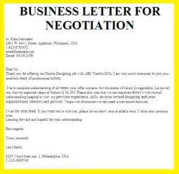 How To Write A Letter For A Business Grant Negotiation Business Letter Exles