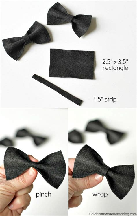 diy mini bow ties to dress up the party celebrations