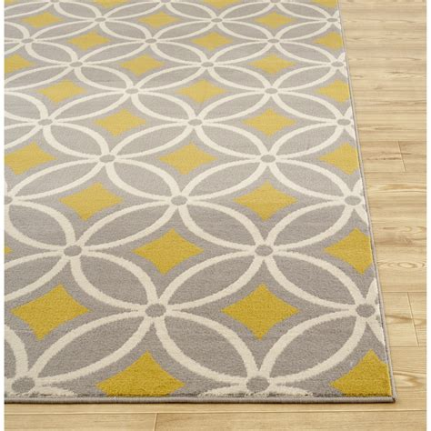 World Rug Gallery Newport Gray Yellow Area Rug Reviews Grey And Yellow Area Rug