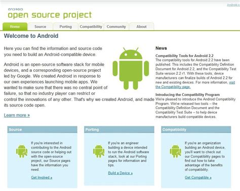 is android open source never gets site android open source project