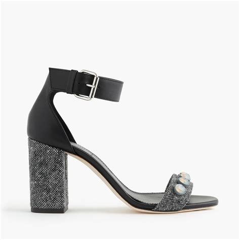 jeweled high heels j crew collection jeweled strappy high heel sandals in