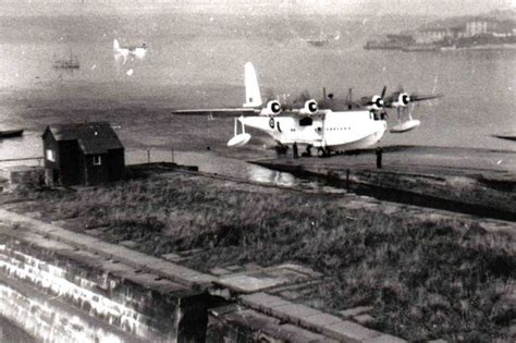 flying boat mount welsh battle of atlantic flying boat is raised from the