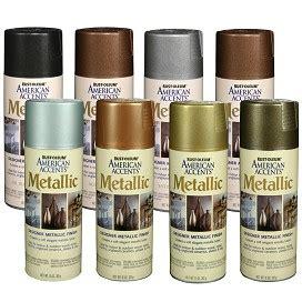 rustoleum american accents designer metallic spray