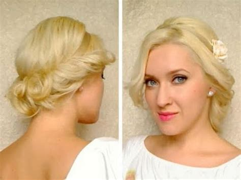 Medium hair length cute easy curly updo hairstyle for long medium