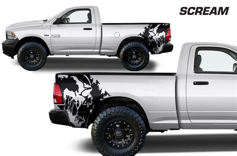 ram truck graphics dodge ram 09 14 vinyl graphics for bed fender
