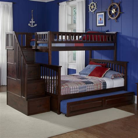 Atlantic Furniture Bunk Bed Shop Atlantic Furniture Columbia Antique Walnut Bunk Bed At Lowes