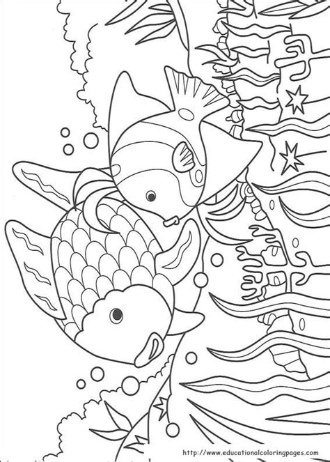 printable coloring pages rainbow fish rainbow fish coloring pages free for kids