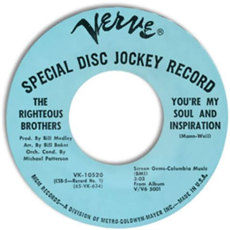 the righteous brothers youre my soul and inspiration classic 45 the righteous brothers you re my soul and