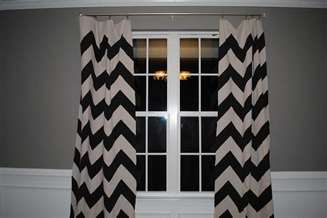 Black And White Chevron Curtains Diy Black And White Chevron Curtains Followpics