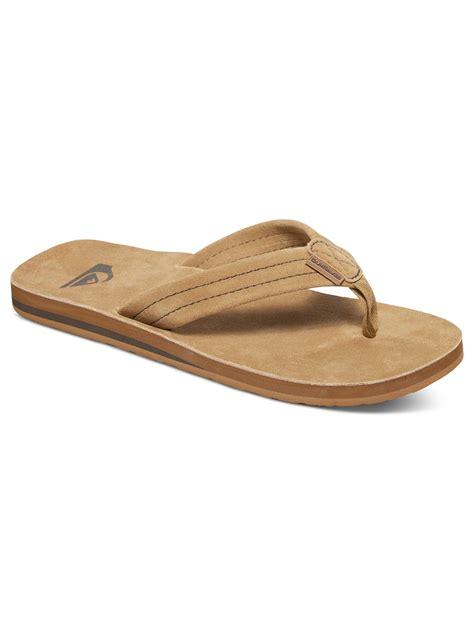 quiksilver sandals quiksilver carver deluxe suede sandals aqyl100244 ebay