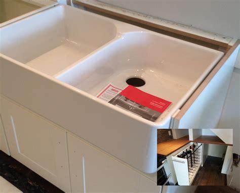ikea domsjo sink discontinued farmhouse sink to fit ikea cabinet nazarm com