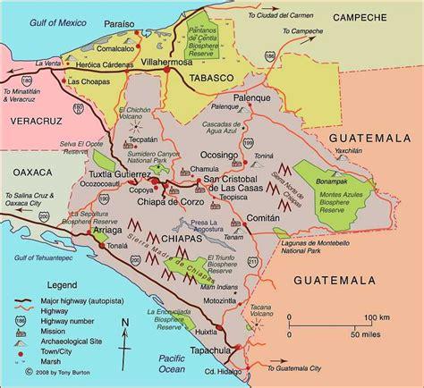 map of mexico chiapas clickable interactive map of chiapas state mexico