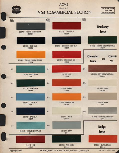 color codes gm paint cross reference autos post
