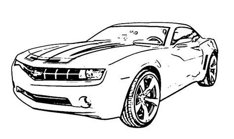 Camaro Coloring Pages chevy camaro coloring page coloring home