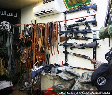 isis releases images of gun store in mosul daily mail online