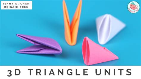 origami triangle pieces tuto origami triangle 3d