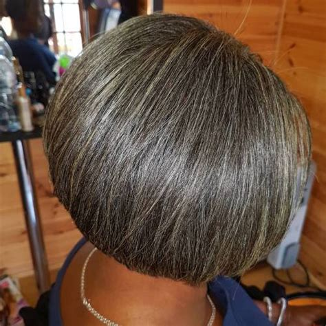 photos of salt and pepper bob hairstyles for black women 60 gorgeous hairstyles for gray hair
