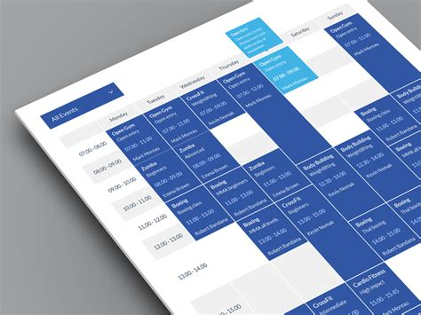 design html timetable timetable by quanticalabs dribbble