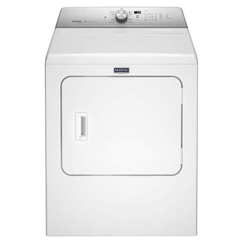 maytag 7 0 cu ft electric dryer with steam in white