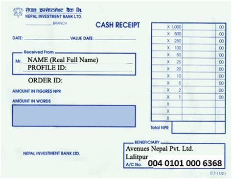 best photos of cash payment slip payment slip template