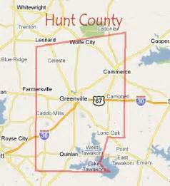 map of hunt county images