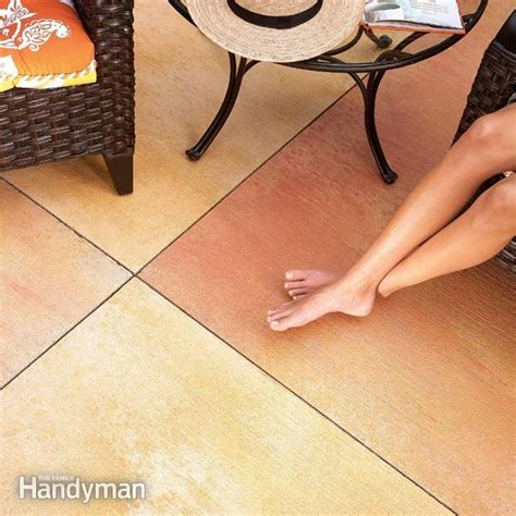 How To Stain Your Concrete Patio by Renew Your Concrete Patio The Family Handyman
