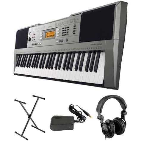 Jual Adaptor Yamaha Psr yamaha psr e 353 portable keyboard kit with stand power b h