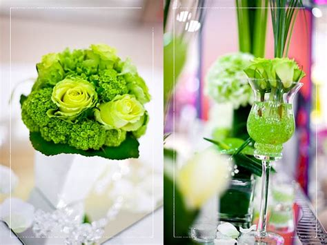 summer wedding centerpiece ideas on a budget acid green wedding theme