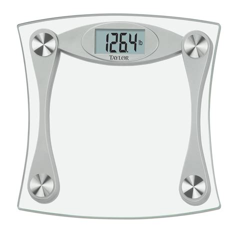 taylor 7506 bathroom scale taylor lcd digital bath scale in glass and grey 7517