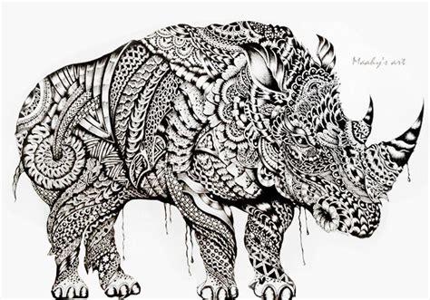 1000 images about zentangle animals dibujos rhino by maahy s art arabesco pinterest rhinos
