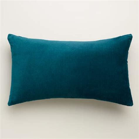 Back Pillows by Teal Velvet Lumbar Pillow World Market
