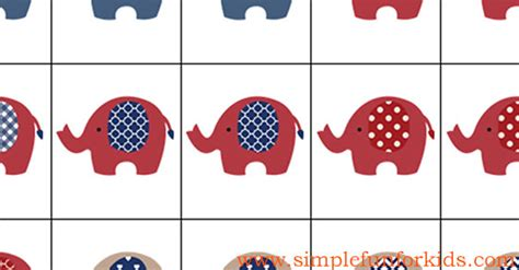 simple pattern matching elephant matching game simple fun for kids