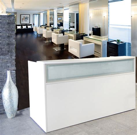 Salon Reception Desk White White Salon Reception Desk White Salon Reception Desk