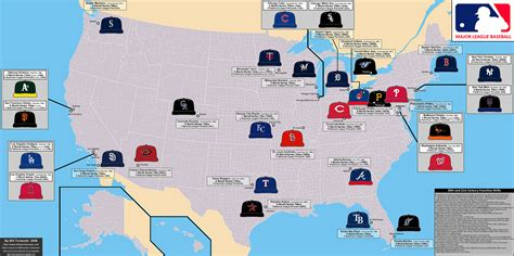 mlb map 5 leisure at the national regional scale sport geographymonkey