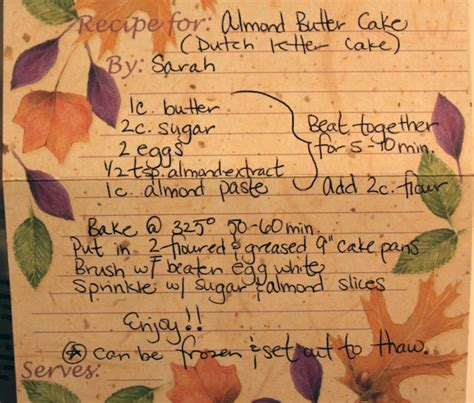 Butter Letter Recipe