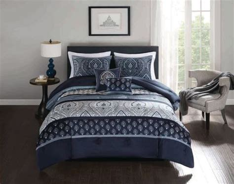 walmart bedding sets king hometrends ikat damask 5 pieces comforter set king