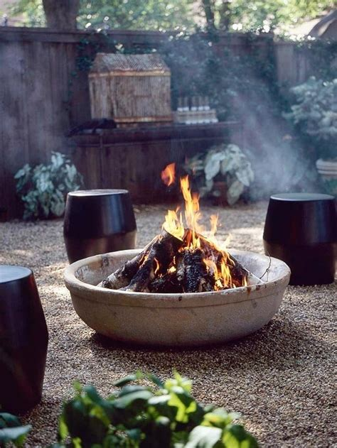 cool diy outdoor pits and bowls home decorating ideas