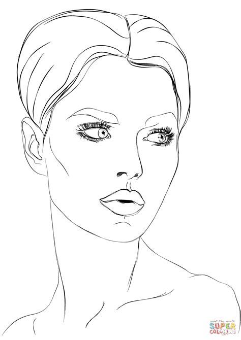 woman s face super coloring