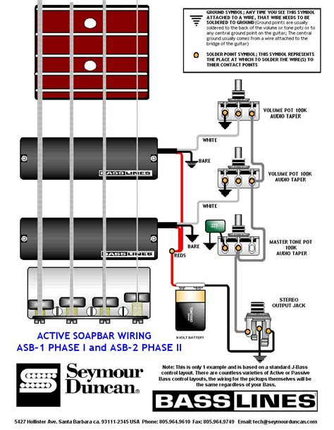 guitar wiring drawings switching system bass guitar