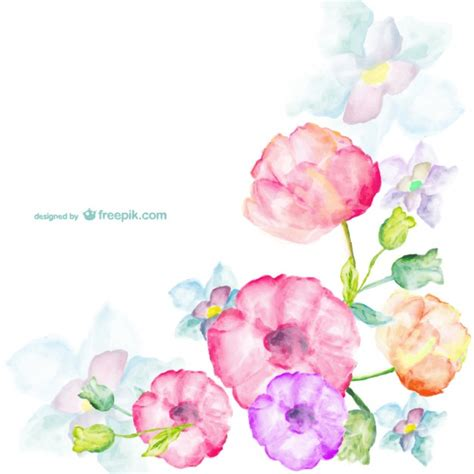 free vector watercolor flowers watercolor flowers greetings card vector free download