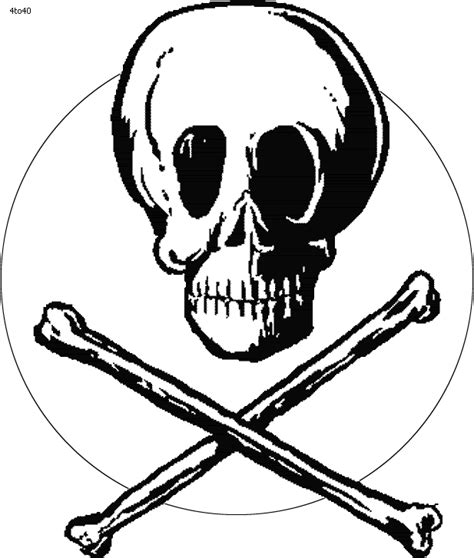 skull and crossbones coloring pages