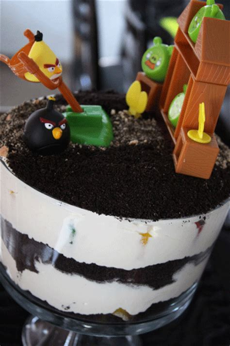 easy angry bird birthday cake dirt cake style a spotted pony