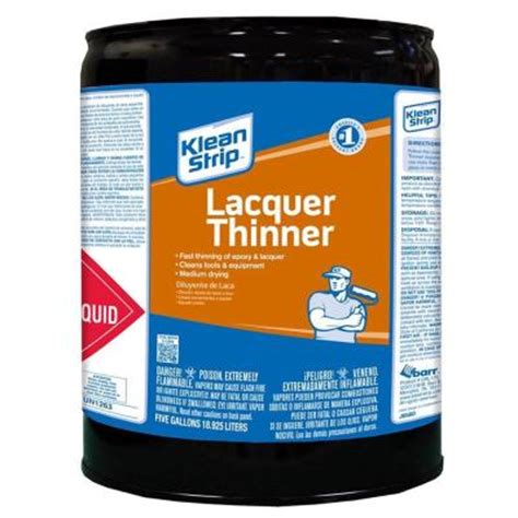 home depot paint thinner klean 5 gal lacquer thinner cml170 the home depot