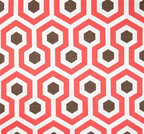 coral home decor fabric by the yard modern geometric