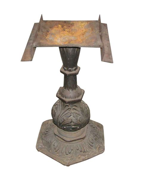 Ornate Cast Iron Pedestal Table Base Olde Things