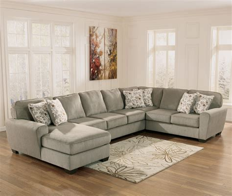 ashley furniture couch with chaise ashley furniture patola park patina 4 piece sectional