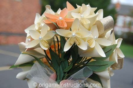 Origami Flowers For Wedding - bouquets origami and flower bouquets on