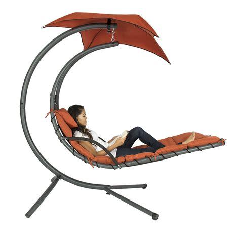 Single Person Hammock Chair Orange Single Person Modern Chaise Lounger Hammock